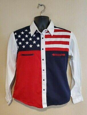 Scully Boys American Flag Shirt Rw029k
