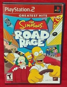 The-Simpsons-Road-Rage-PS2-Playstation-2-COMPLETE-Game-1-Owner-Near-Mint-Disc
