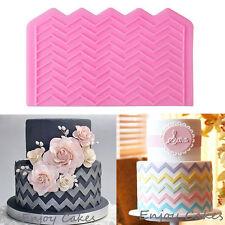 Wave Polyline Silicone Fondant Mould Cake Decorating Sugarcraft Icing Mold Tools