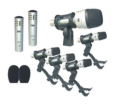 iSK DSM-7B Drum Kit Microphone Set - 7-Piece