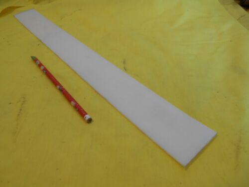 "NATURAL UHMW BAR machinable plastic flat sheet stock 1//8/"" x 2/"" x 20/"" OAL"