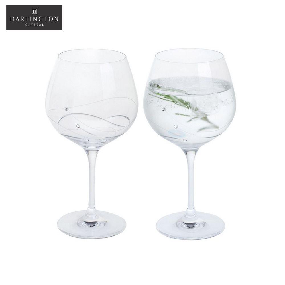 Dartington Glitz Conjunto de 2 Clear Copa Gin & Tonic Vasos
