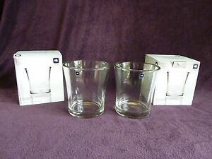 2-x-Original-LEONARDO-bloom-Glas-Vase-Windlicht-17-cm-Neu-OVP