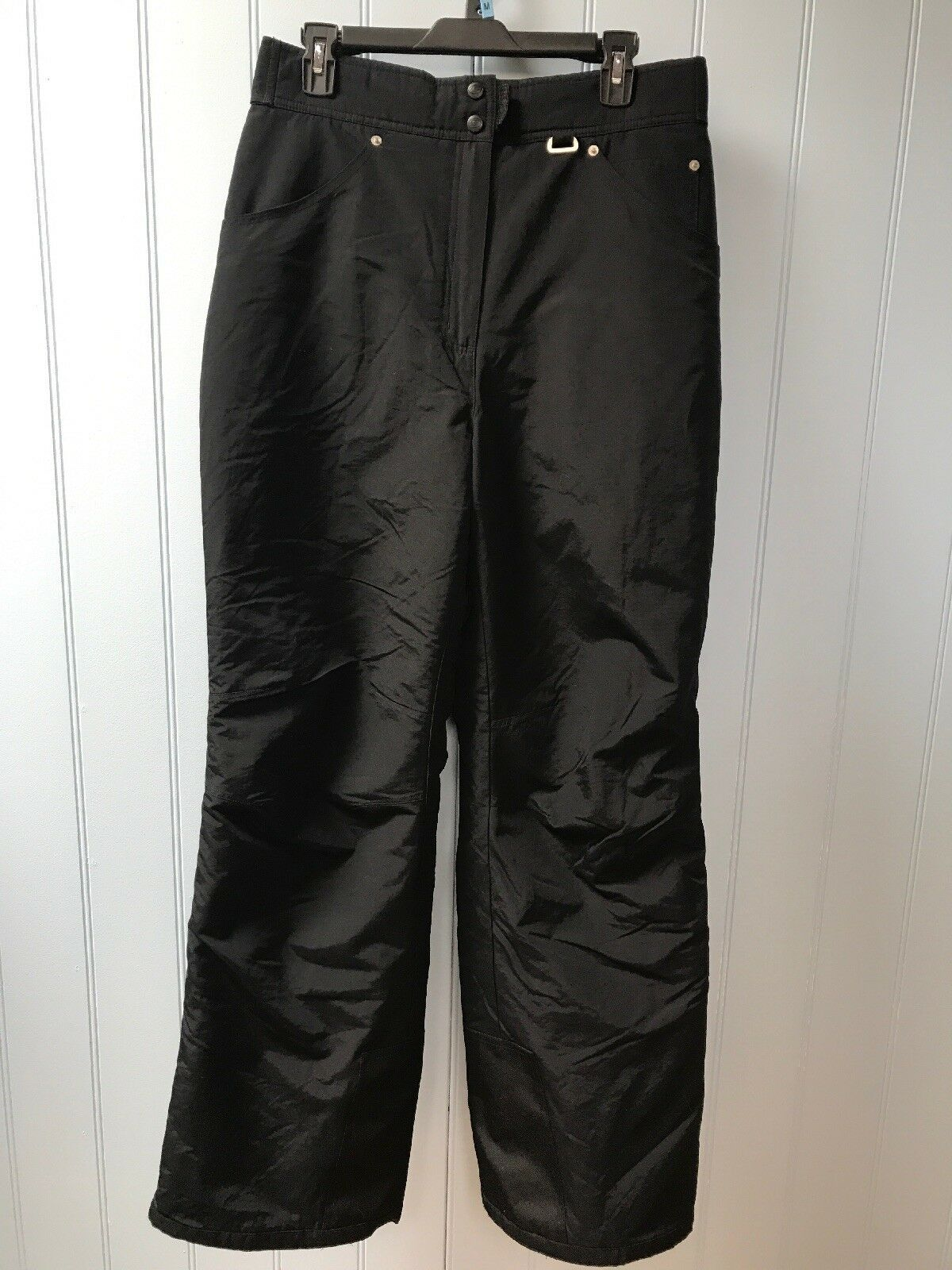 Slalom Velcro Adjustable Waist Men's Nylon Winter Ski Snowboard Pants Size L