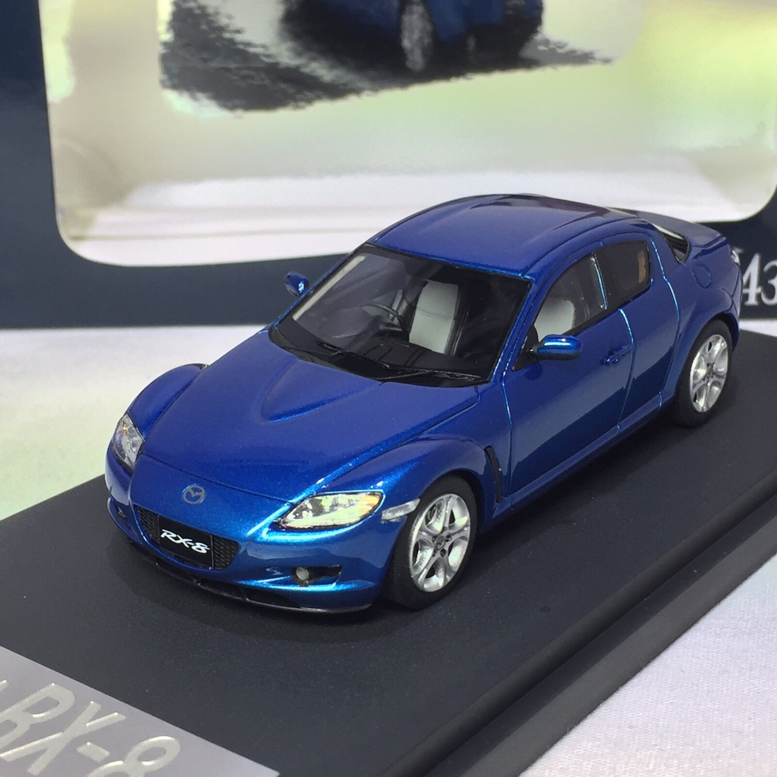 1 43 43 43 scale Mark43 Mazda RX-8 SE3P Winning bluee Metallic PM4342BL b81e64