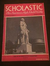 SCHOLASTIC Feb 19, 1940 VG Condition