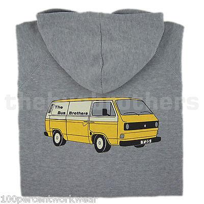 Intelligent Bus Brothers Ladies Womens Zipped Hooded Top Hoody Hoodie T25 T3 Camper Van Vw Die Neueste Mode