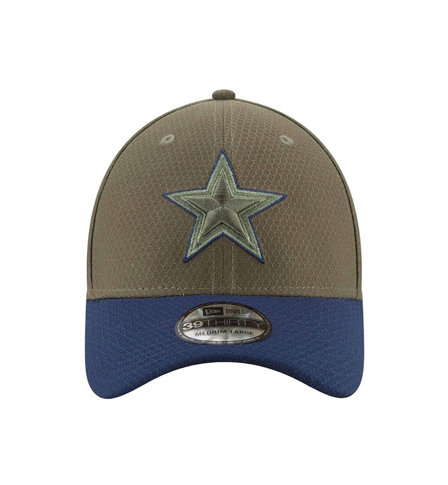 cf72cee0 NEW ERA 39Thirty NFL Dallas Cowboys STS 17 Green Navy Stretch Fit Cap Men  Hat