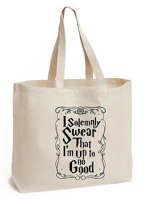 I solemnly swear that i'm up to no good Cotton Tote ECO canvas harry potter Bag