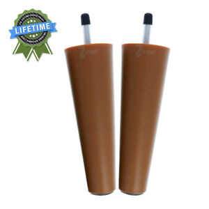 Leg-Daddy-6-034-Round-Tapered-ABS-Plastic-Replacement-Leg-M8