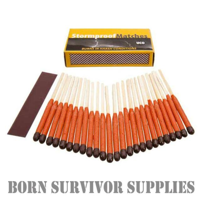 UCO STORMPROOF MATCHES - Extra Long Waterproof & Windproof Storm Match Survival