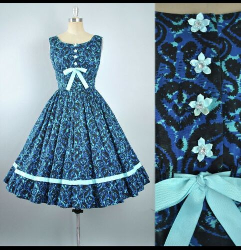 Vintage 50's Floral Dress Anne Fogarty