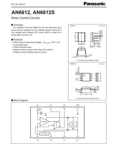 AN6612 Brush DC Motor Controller 6612 IC 1 Pcs
