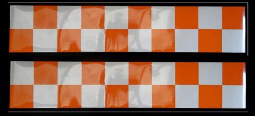 Magnetic Reflective Battenberg Side Reflectors 1500mm orange//white