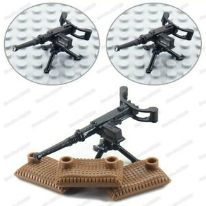 Lego-WW2-Mittaileuse-Browning-Militaire-Soldat-M1919-arme-armee-figurine-wwii