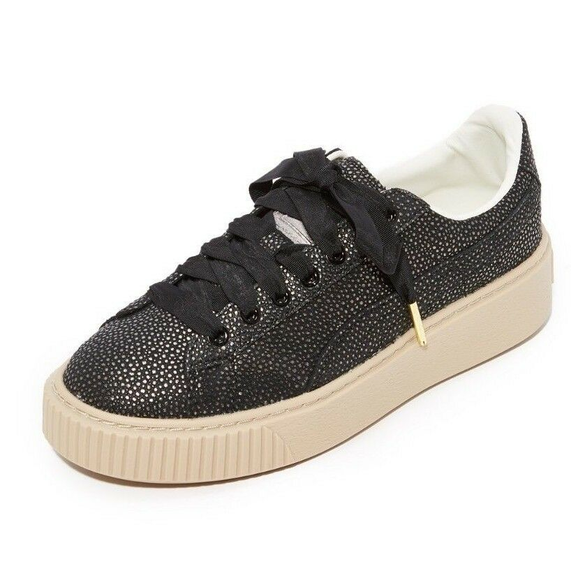 PUMA Women's Platform Lux Wn Wn Wn Sneaker color Puma Black Size US 8 763234