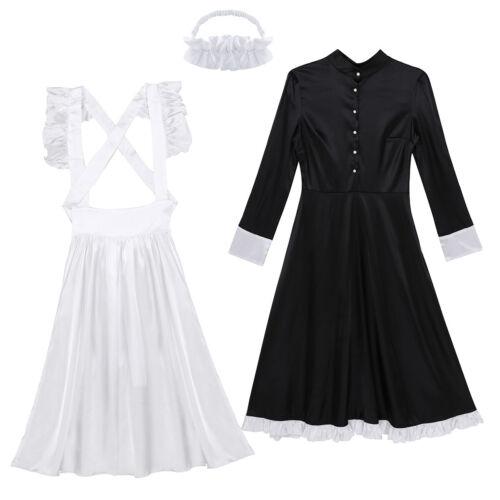 Womens Cosplay Costume French Maid Babydoll Uniform Dress Halloween Fancy Dress