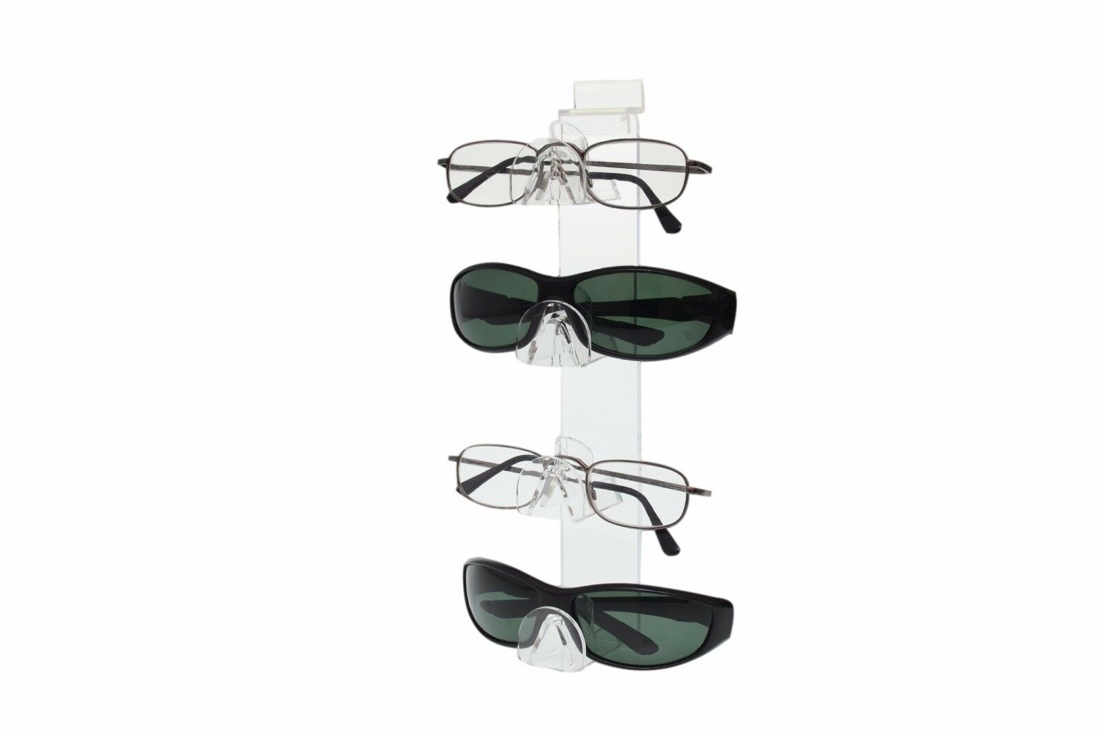 Marketing Holders Single Tier Sunglasses Stand Spectacles Safety Glass Value Pack of 12 Warehouse Slant Back Eyeglasses Labs Acrylic Clear Display