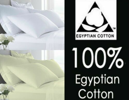 400TC Hotel Quality 100/% Egyptian Cotton Fitted Sheet /& Flat Sheet Pillow Cases