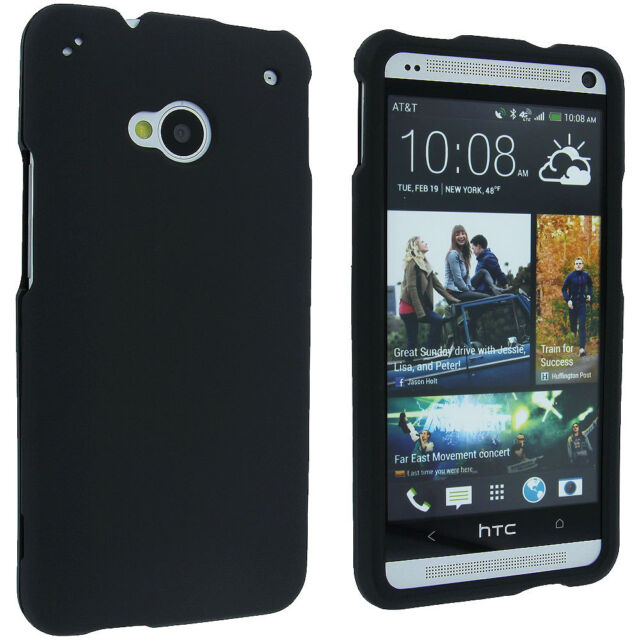 on sale 6bda2 904c0 Black Snap-on Hard Case Cover for HTC One M7