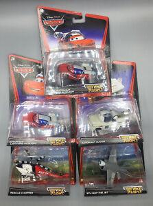 Disney Pixar Cars Lot 5 Autonaut Mater-Burnt-Lightning McQueen-Chopper-Stu Bop
