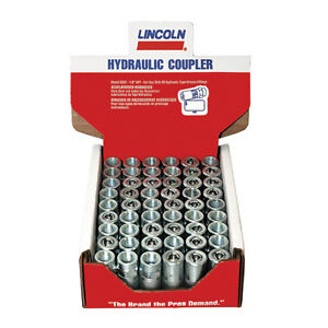 Lincoln 5852-54 Hydraulic Coupler Midget Style 54-Pack Display