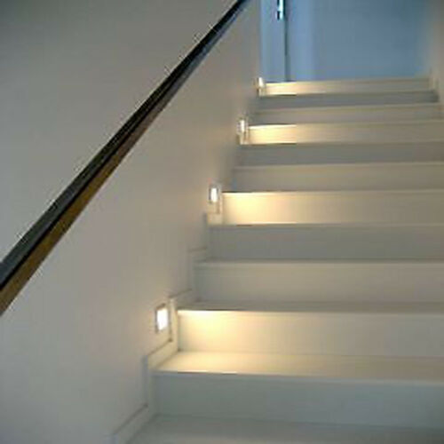 1.5W LED Wall Hall Recessed Stair Step Yard Lighting Indoor Plinth Pathway Lamp