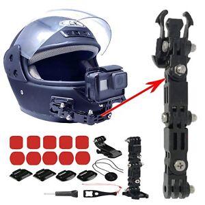 Casco De Motocicleta Rostro Completo Casco de montaje de montaje de la barbilla Compatible para GoPro 8 7 6