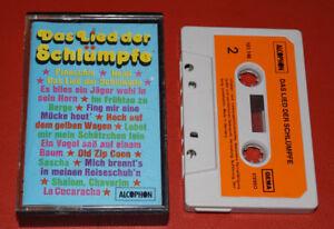 MC-KASSETTE-DAS-LIED-DER-SCHLUMPFE-Heidi-Pincchio-Fing-mir-eine-Muecke-ALCOPHON