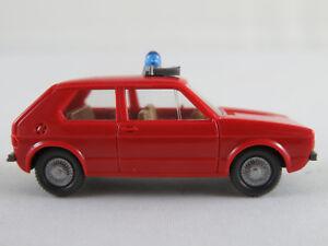 Wiking-606-3-VW-Golf-I-1974-1978-034-FEUERWEHR-ELW-034-1-87-H0-guter-Zustand