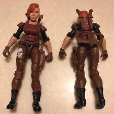 "TWO! Lanard 3.75"" Custom RARE FEMALE FIGURES GI JOE Type Soldier Mercenaries"