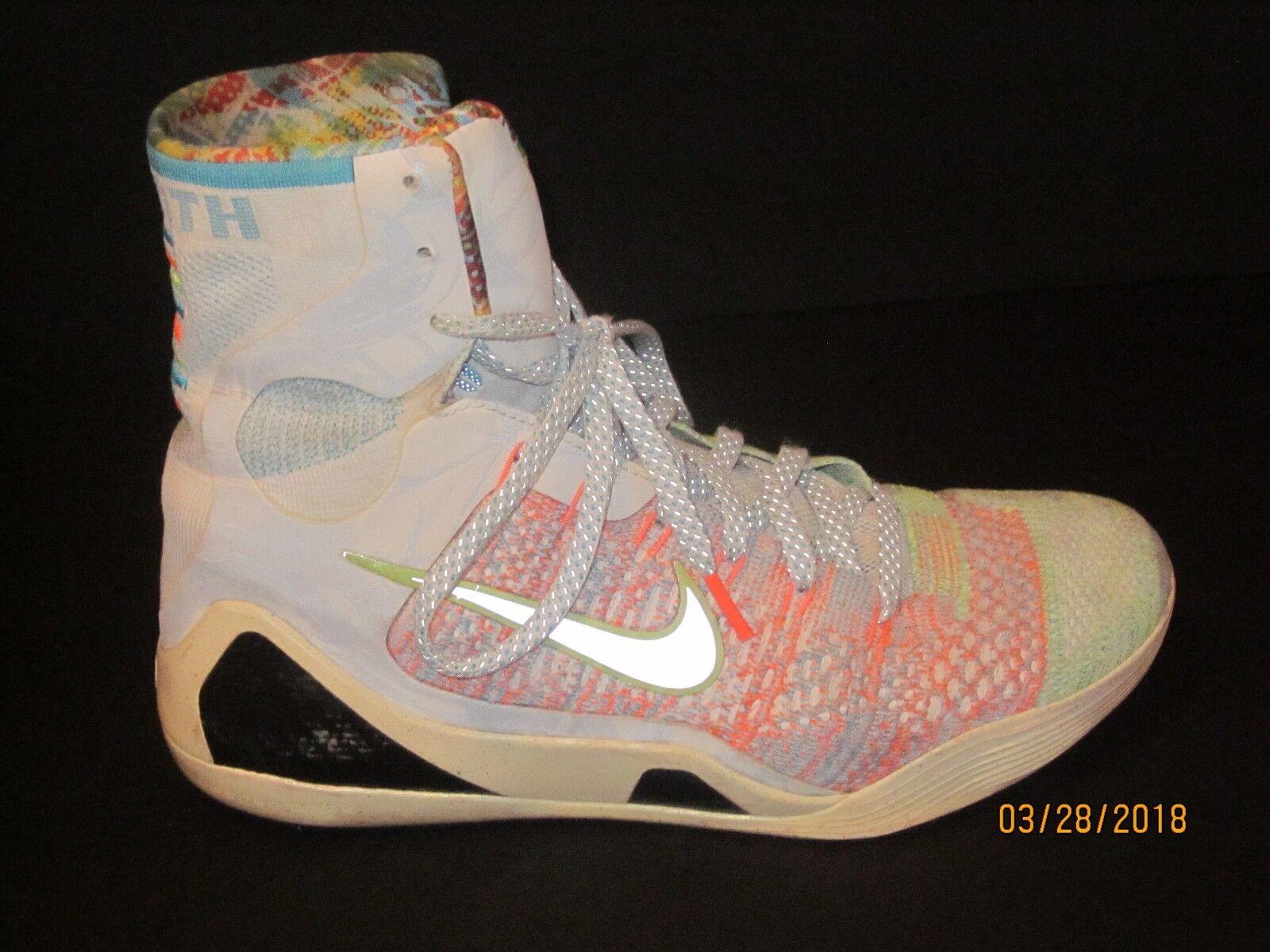 Nike Kobe Bryant KB IX Ninth Elite Premium Shoes Neon Men 9.5 1/2 678301-904 204