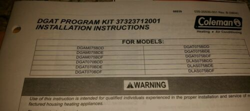 New in Box Coleman DGAT Furnace Heat Exchanger Kit