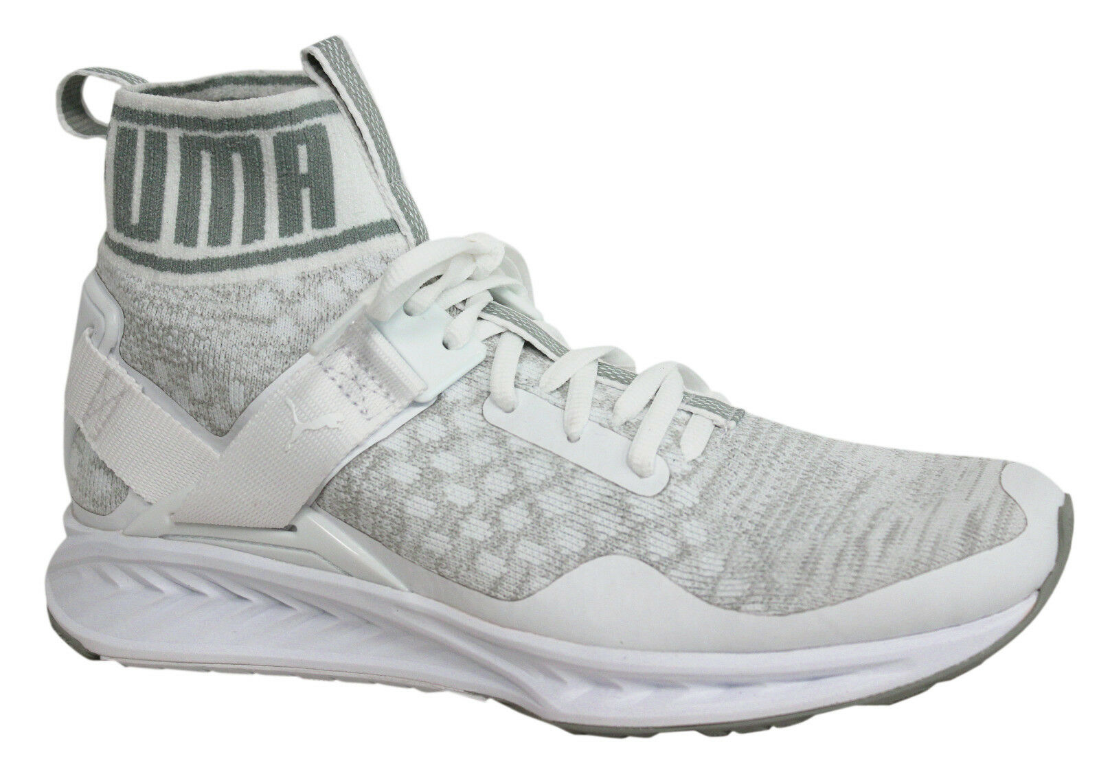 Puma Ignite evoKNIT Lace Up White Mens Mid Shoes Trainers 189697 03 D33 Brand discount