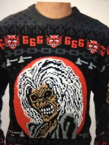 image is loading iron maiden ugly christmas sweater eddie soundhouse bos