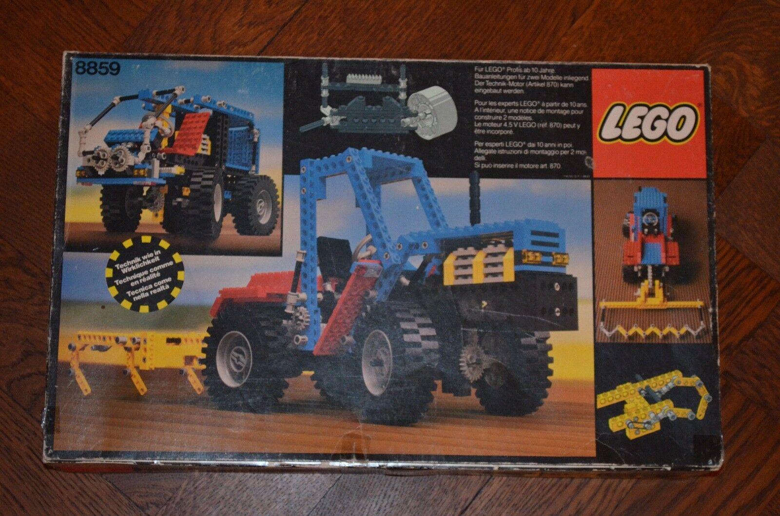 Lego Technik 8859 - Traktor mit Egge - komplett - Rarität aus 1981
