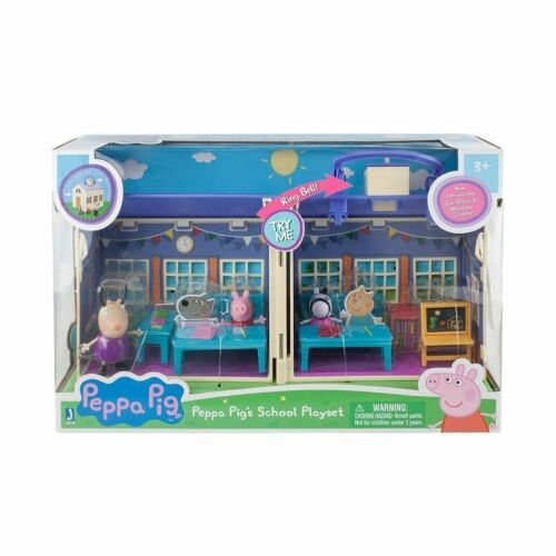 NEW Peppa Pig Deluxe School House 92608 Playset Peppa Zoe Zebra Madame Gazelle