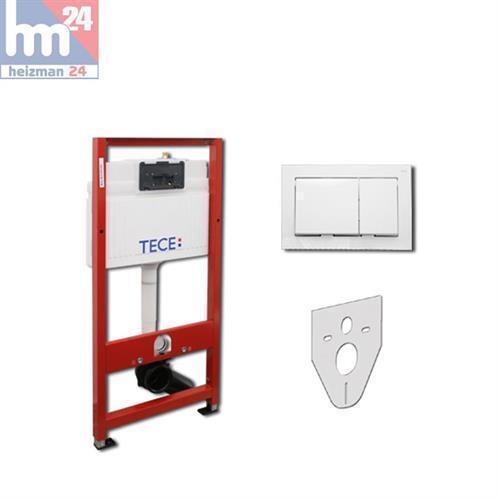 TECE Base WC Vorwandelement mit Betätigungsplatte in weiß BH 112 cm 9.400.000