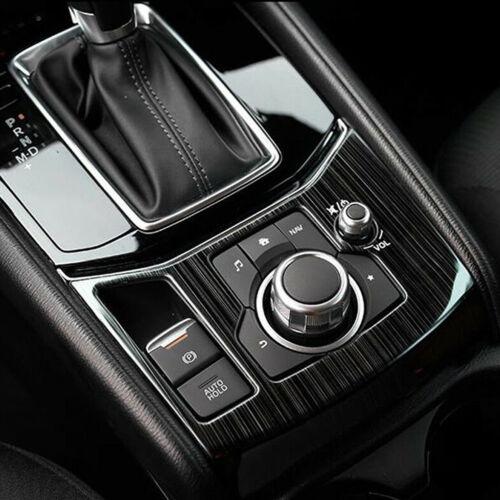 Titanium Interior Central Console Gear Shift Cover Trim For Mazda CX-5 CX5 2017+