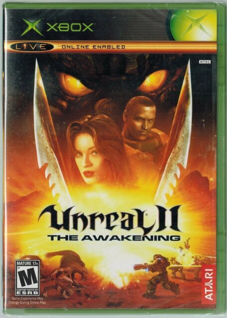 Unreal II: The Awakening (Xbox, 2004) Factory Sealed