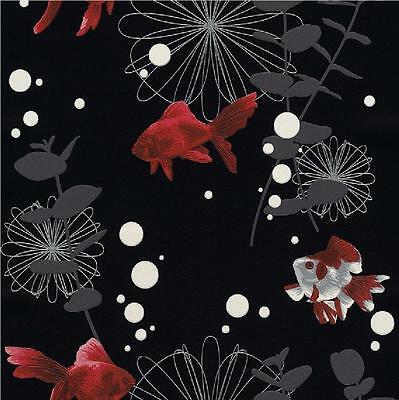 LUXURY RASCH RED FISH TEXTURED EMBOSSED KITCHEN BATHROOM VINYL WALLPAPER 817508