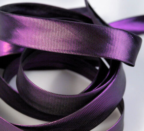 5m of 15 mm Satin//Lurex Bias Binding Tape Trim Trimming Sewing Ribbon