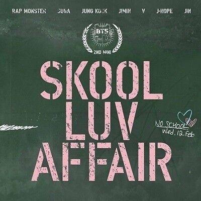 "BTS 2nd Mini Album ""SKOOL LUV AFFAIR"" CD+ 115p Booklet+ Photocard K-POP Sealed"