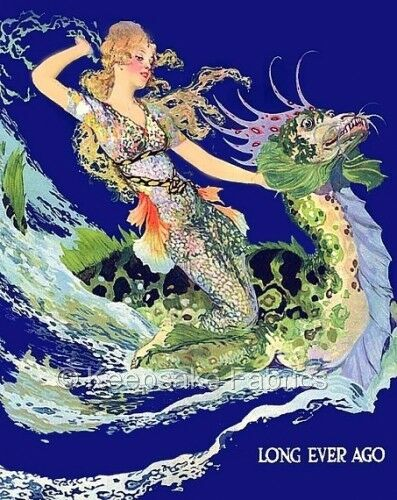 Mermaid Dragon Long Ever Ago Quilt Block Multi Sizes FrEE ShiPPinG WoRld WiDE