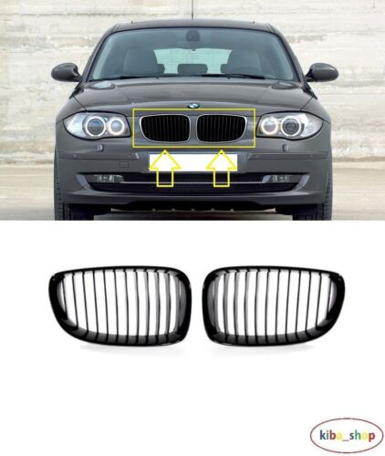 SERIES 2007-2013 NEW FRONT BUMPER UPPER RADIATOR GRILLES LEFT RIGHT BMW 1