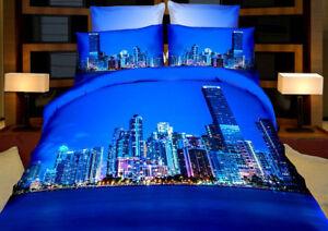3-tlg-3D-Effekt-Bettwaesche-Bettbezug-Bettgarnitur-155x200-cm-New-York