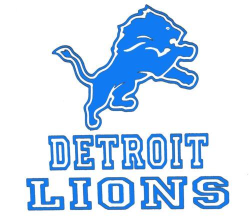 Detroit Lions Football Logo Vinyl Decal Sticker 77104z