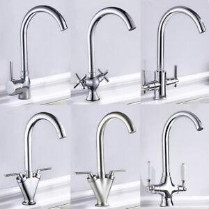 Modern-Kitchen-Mixer-Taps-Basin-Sink-Tap-Single-Twin-Lever-Mono-Swivel-Faucet