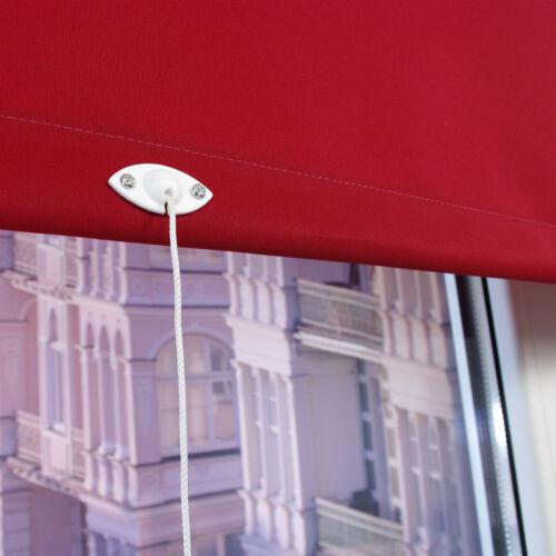 Springrollo Mittelzugrollo Schnapprollo Fenster Tür Rollo Sichtschutz Dunkelrot