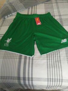 New original Liverpool LFC New Balance Football Shorts Green Adult Large BNWT